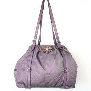 Vintage Prada Tessuto Purple Lavender Shoulder Hnad Bag Bucke Made in Italy